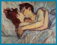 In Bed The Kiss - Toulouse Lautrec